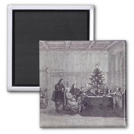 Christmas Eve in Germany 2 Inch Square Magnet