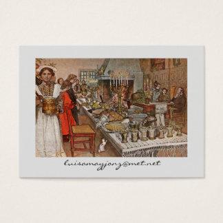 Christmas Eve Julaftonen Business Card