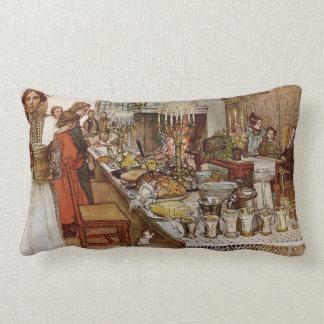 Christmas Eve Julaftonen Lumbar Pillow