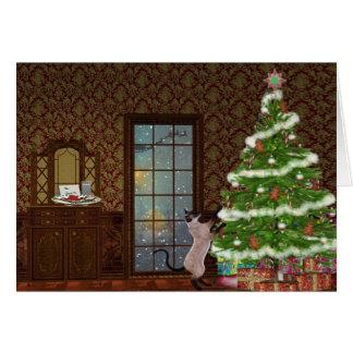 Christmas eve Kitty card