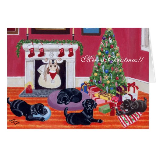 Christmas Eve Labradors Christmas Cards