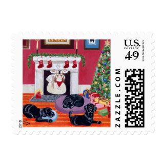 Christmas Eve Labradors Postage