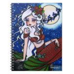 Christmas Eve Mermaid Fantasy Art by Hannah Lynn Note Book