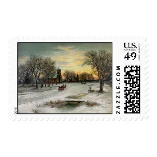 Christmas Eve Night Stamp