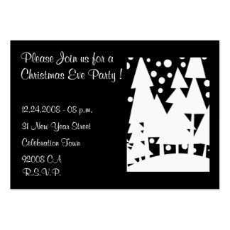 Christmas Eve Party - Invitation Large Business Cards (Pack Of 100)