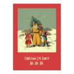 "christmas eve party invite 5"" x 7"" invitation card"
