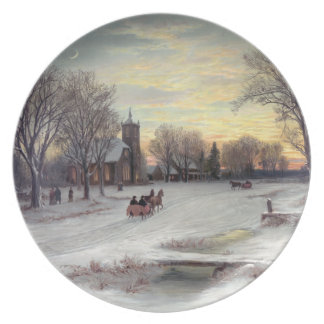 Christmas Eve Party Plate