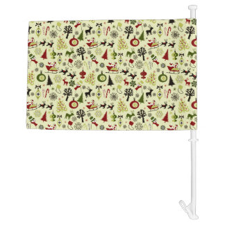 Christmas Eve Pattern Car Flag