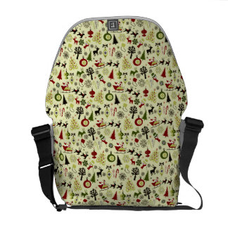 Christmas Eve Pattern Courier Bag