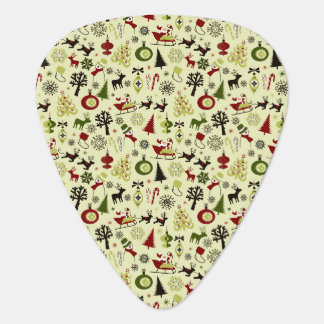 Christmas Eve Pattern Guitar Pick