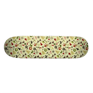 Christmas Eve Pattern Skateboard Deck