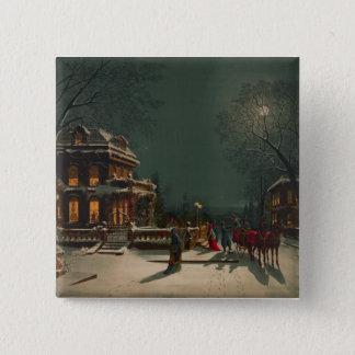Christmas Eve Pinback Button