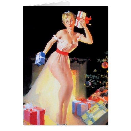 Christmas Eve Pinup Card