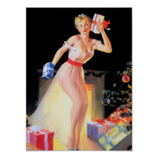 Christmas Eve Pinup Poster