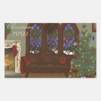 Christmas Eve Rectangular Sticker