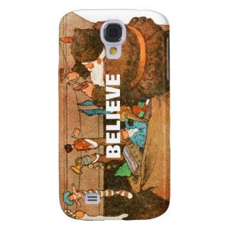 Christmas Eve Santa Claus Fireplace Samsung Galaxy S4 Case
