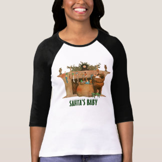 Christmas Eve Santa Claus Fireplace T-Shirt