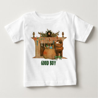 Christmas Eve Santa Claus Fireplace Tee Shirts