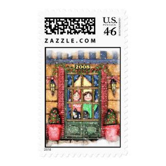 Christmas Eve Snowfall Stamp