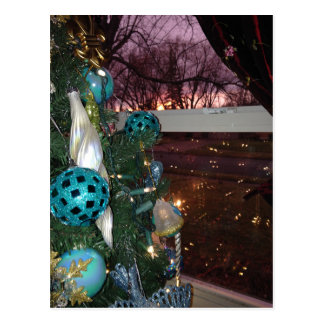 Christmas Eve Sunset Postcard