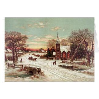 Christmas Eve Winter Scene greeting cards