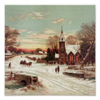 """Christmas Eve Winter Scene"" poster/print"