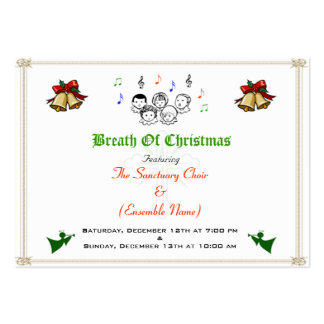 Christmas_Event Card Large Business Cards (Pack Of 100)