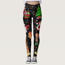 Christmas Everything Ugly Sweater Party leggings