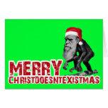 Christmas evolution greeting card
