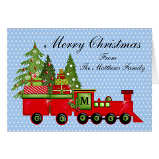 Christmas Express Train Card