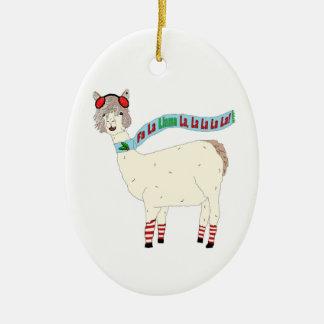 Christmas Fa La Llama La La La La La Ornament