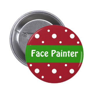 Christmas 'Face Painter' Identification 2 Inch Round Button