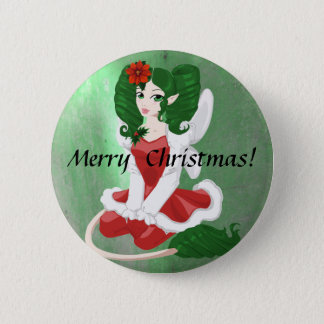 Christmas Faerie Button
