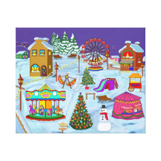 Christmas Fairground Canvas Print