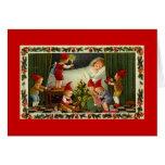 Christmas  fairies visit child card