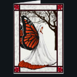 """christmas fairy card<br><div class=""""desc"""">A beautyful fantasy christmas card. With a butterfly fairy with red and black wings. For a different kind of christmas card. Can be fully customized</div>"""