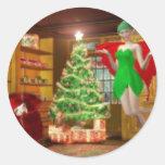 Christmas Fairy Classic Round Sticker