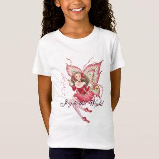 Christmas Fairy Girls Baby Doll T-shirt