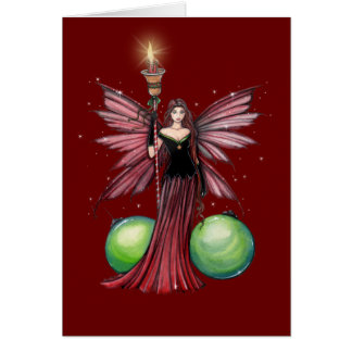 Christmas Fairy Greeting Card by Molly Harrison