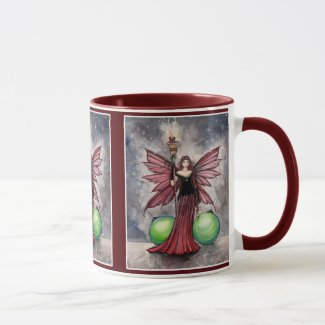 Christmas Fairy Mug by Molly Harrison