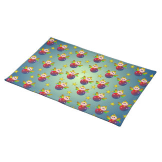 Christmas Fairy Pattern Cloth Placemat