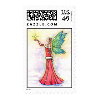 Christmas Fairy Postage Stamp by Molly Harrison