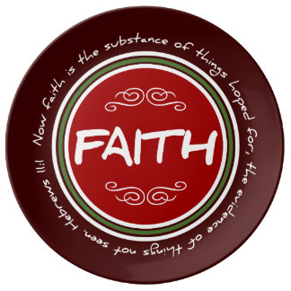 Christmas Faith Bible Verse Porcelain Plate
