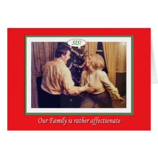 Christmas Family Affection Card