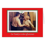 Christmas Family Affection Greeting Card