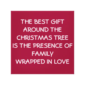 Christmas Family Love Canvas