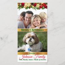 Christmas Family Photo & Family Pet Photo Card