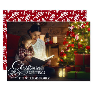 Christmas Family Photo Holiday Greetings Card