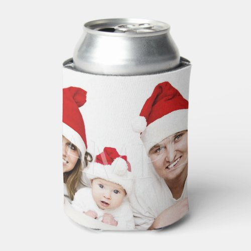 Christmas family photo  Upload your photo Can Cooler