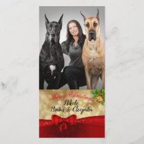 Christmas Family Photo with Dogs Photo Card